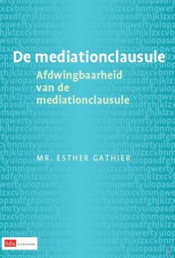 9789012385114 De mediationclausule (e-boek)