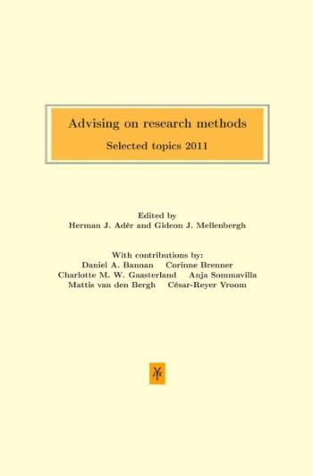 9789079418169 Advising on research methods: Selected topics 2011 (e-boek)