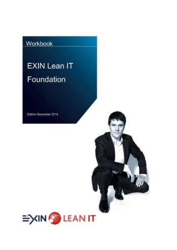 9789082038873 Workbook EXIN lean IT foundation (e-boek)